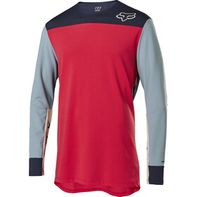Fox Defend Delta Maillot Manga Larga Hombre, bright red